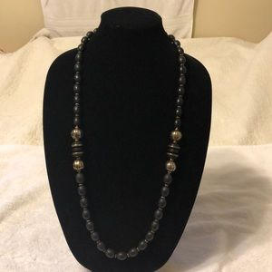 MIRIAM HASKELL BLACK BEAD NECKLACE